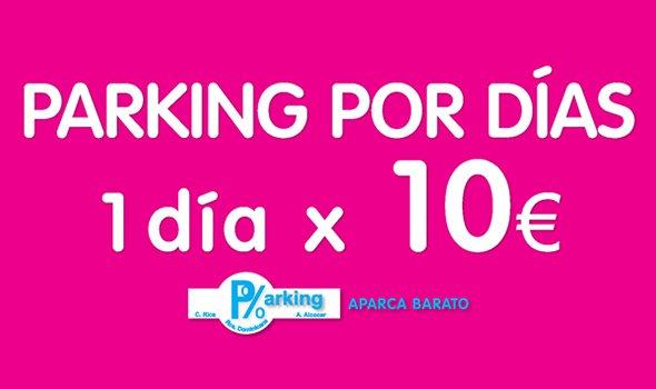 ¡1 día 10 euros!Cuando necesito ir al trabajo en coche aparco en PARKING RDOMINICANA en la calle Alberto Alcocer 45 y por solo 10 € aparco todo el dia